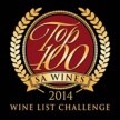 TOP 100 SOUTH AFRICA WINE LIST QUALITY AWARD